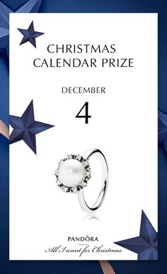 The classic pearl ring can become your new key piece this Christmas. 4th of December prize in #PANDORAchristmascontest