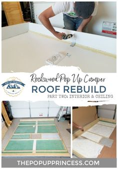 Pop Up Camper Roof Rebuild - Here is how we rebuilt the water damaged roof of our Rockwood Pop Up Camper. We rebuilt the water damaged roof of our 1994 Rockwood pop up camper. Here is how we reconstructed the interior frame and ceiling. New Pop Up Campers, Jayco Pop Up Campers, Coleman Pop Up Campers, Popup Camper Remodel, Diy Camper, Camper Ideas, Camper Life, Truck Camper, Amor