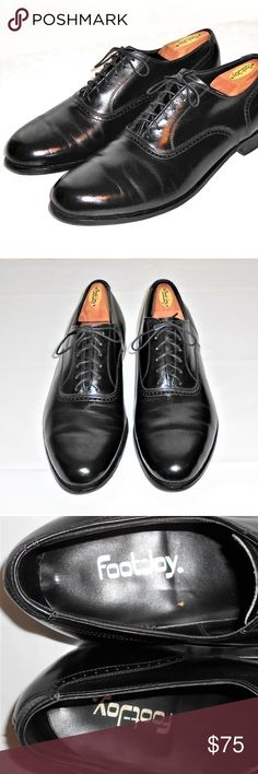 f044ba7e50 FootJoy Black Leather Oxford USA 11 E FOOTJOY BLACK LEATHER DRESS OXFORD  SHOES MADE IN USA