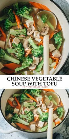 Make takeout in your home in just 10 minutes with this Chinese vegetable soup that's light and flavorful, yet hearty and comforting enough to fill you up! {Vegan, Gluten-Free} Easy Soup Recipes, Good Healthy Recipes, Curry Recipes, Chili Recipes, Asian Recipes, Ethnic Recipes, Chinese Vegetable Soup, Chinese Vegetables, Clean Eating Vegetarian