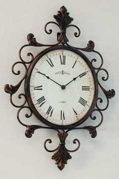 VENICE 14 in Large Wall Clock in Yellow Cream Red Antique