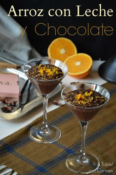 Arroz con leche de chocolate