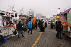 Feast in the East, a food truck festival, took place in the East Village, seeing a decent turnout despite cold temperatures. Photo by Nicolle Amyotte Food Truck Festival, East Village, Calgary, A Food, Trucks, Cold, Health, Health Care, Truck