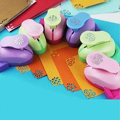 Fascola Pack of 6 Embossing DIY Corner Paper Printing Card Cutter Scrapbook Shaper large Embossing device Hole Punch Kids Handmade Craft gift YH01 Random design and color ** More info could be found at the image url.Note:It is affiliate link to Amazon.