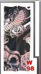 1pc hot sale tattoo sleeve styles elastic Fake 100%nylon Arm stocking beloved girl Buddha Wolf Dragon design halloween cool men