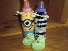 aed472f006 Baby bottle cozy, One Eye Minion or Zebra - Great baby shower gift, Made