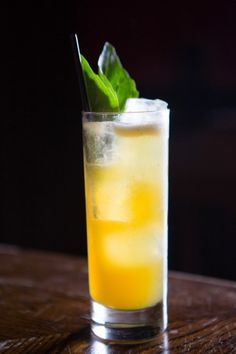 Bourbon & Branch, Maple Basil Crunch -- Yes, that's a beverage, a non-alcoholic one.