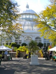 New York Botanical Gardens is a designated national landmark botanical garden located in the Bronx.  It spans some 250 acres and is home to the Pfizer Plant Research Laboratory.