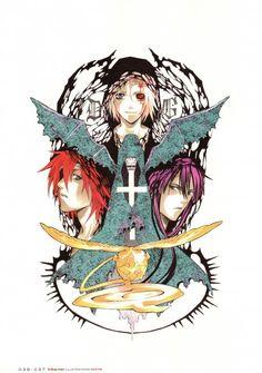 Katsura Hoshino, D Gray-Man, Noche - D.Gray-man Illustrations, Lavi, Timcanpy