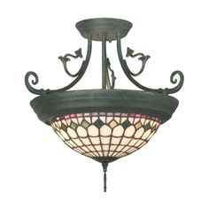 Shop Dale Tiffany  TH10962 Diamond Edge Tiffany Semi Flush Mount Ceiling Light at ATG Stores. Browse our semi flush ceiling lights, all with free shipping and best price guaranteed.