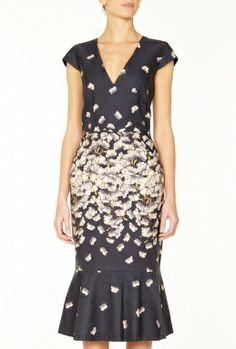 Floral Godet Pencil Dress by Suno