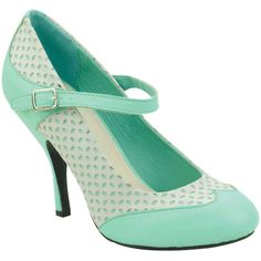 Mint & White Closed Toe Bombshell Mary Jane Pumps ($54) ❤ liked on Polyvore featuring shoes, pumps, heels, mint green pumps, white high heel pumps, white high heel shoes, white shoes and mint pumps