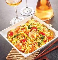 GOSCH Sylt | Gebratene MIE-Nudeln mit Asiagemüse und Shrimps