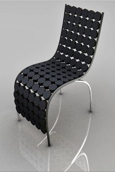 Tube chair made by steel, pcv tube and felt | Adrian Lucejko