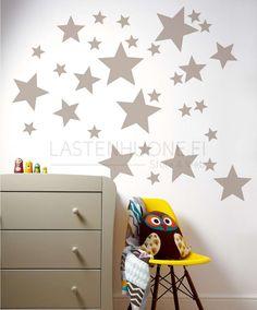 -  SISUSTUSALE - Seinätarrat, Tähdet