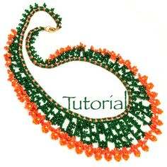 Seed Bead Necklace Tutorial Tickle Me Necklace Instant Digital Download
