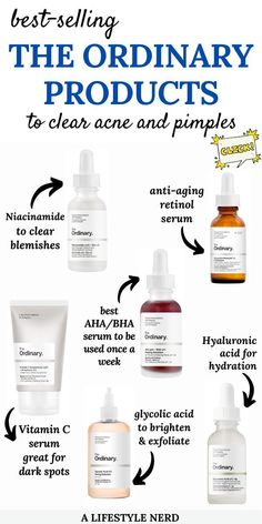 Clear Skin Face, Clear Skin Tips, Face Skin Care, Oily Skin Care, The Ordinary Skincare Routine, The Ordinary Products For Oily Skin, The Ordinary For Acne Prone Skin, Haut Routine, Skin Care Routine Steps