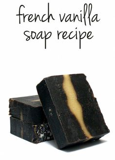 This cold process french vanilla homemade soap recipe combines a creamy vanilla fragrance plus natural lanolin for nourishing moisture or a smooth shave! #homemadesoap