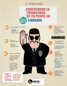 4 pasos para configurar tu Privacidad en LinkedIn #infografia