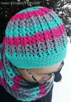 free crochet hat pattern cables and stripes