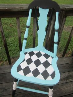 Hand painted chair (credit?). Color combination