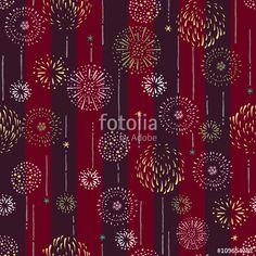 ベクター: Repeat design / Pattern / Fireworks / Vector illustration点