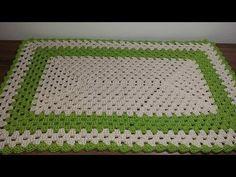 Tapete Crochê Retangular Rápido e Fácil MED 71/44 - YouTube Crochet Table Mat, Hand Embroidery Videos, Crochet Poncho, Crochet Rugs, Manta Crochet, Diy And Crafts, Make It Yourself, Blanket, Pattern