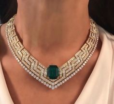 Diamond Necklace Buy discount necklaces in Pakistan at Oshi. Book Online comport women necklaces in Karachi, Lahore, Islamabad, Peshawar and All across Pakistan. Emerald Jewelry, High Jewelry, Modern Jewelry, Diamond Jewelry, Vintage Jewelry, Jewelry Necklaces, Stylish Jewelry, Emerald Necklace, Gold Jewellery