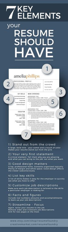 285 best Resume Templates images on Pinterest | Career, Career ...
