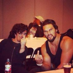 Peter Dinklage & Jason Momoa THIS IS GREAT!!!! Love me some (GOT) BTS pics!!!