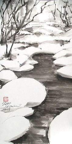 Snow Water - by Kazu Shimura, Tokoyo, Japan