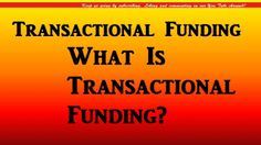 CLICK Now for your FREE Transactional Funding Report!  http://www.TransactionalFundingFl.com  Transactional funding is the process where funds are borrowed and used to purchase various types of commodities that usually will be resold the same day.  In our use as real estate investors, the best transactional funding is when we borrow money for a few hours to purchase a property that we have already resold to an end-buyer.  Transactional funding is money
