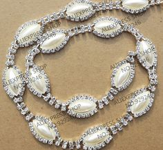 free shipping 90cm pack 1.6cm Mariquesa pearl crystal metal chain for  bridal wedding dress 1f0f174afe09