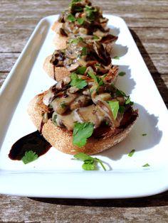 Crostinis champignons vegan