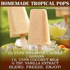 Home made tropical pops