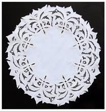 RICHELIEU красивый круглый салфетка-это всегда деликатная вышивка. ручной работы Ришелье