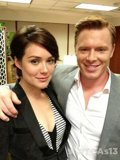 Megan Boone and Diego Klattenhoff from NBC's The Blacklist