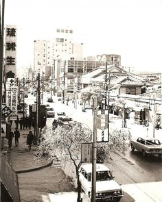 "Kokusai Street, the ""main drag"" of Naha City, Okinawa, in 1969.  I was there for almost a year in 1966."