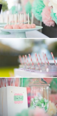 This Pretty Pink and Mint First Birthday was both chic and fabulous!
