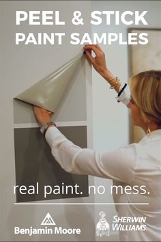 Sample real paint colors at home without the mess. Two coats of genuine paint are applied with rollers for color accuracy and texture that is as good as it gets. Simply peel, stick, and find your perfect color.