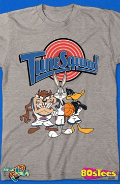 Tune Squad Space Jam T-Shirt: Space Jam Mens T-Shirt Space Jam Geeks:  Travel everywhere  in this men's style shirt that has been designed with great art and illustration.