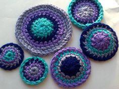 set+of+6pcs+Crochet+pin+wheel+circle+Appliques+Handmade+by+Qspring