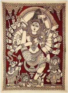 Kalamkari Paintings (Andhra - Sreedevi Balaji In Kerala Mural Painting, Indian Art Paintings, Oil Paintings, Kalamkari Painting, Madhubani Painting, Oriental, Madhubani Art, Indian Folk Art, India Art