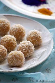 Khoya Coconut Jaggery Laddu Recipe - Step by Step Recipe - Holi Special Recipes   Indian Cuisine