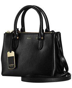 Lauren Ralph Lauren Newbury Mini Double Zip Satchel - Lauren Ralph Lauren - Handbags & Accessories - Macy's
