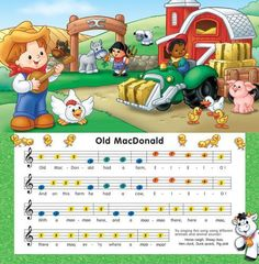 color coded xylophone sheet music | Other Information: | Kid Helper | Pinterest | Sheet music ...