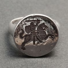 Knight ring - silver via BlindSpotJewellry