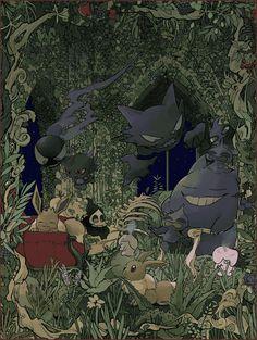 Pokemon Life, Ghost Pokemon, Pokemon Comics, All Pokemon, Pokemon Fan, Pokemon Images, Pokemon Pictures, Ghost Type, Cute Pokemon Wallpaper