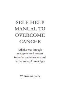 Self-Help to overcome cancer