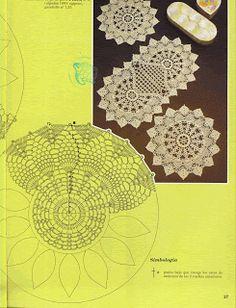 "Photo from album ""ааа Рукоделие"" on Yandex. Crochet Diagram, Filet Crochet, Crochet Motif, Crochet Doilies, Crochet Lace, Crochet Stitches, Crochet Patterns, Pineapple Crochet, Crochet Tablecloth"